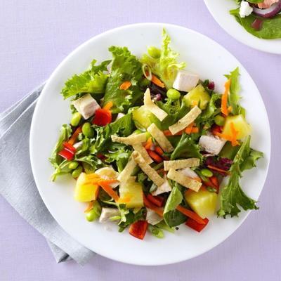 salade de poulet au sésame et aux légumes