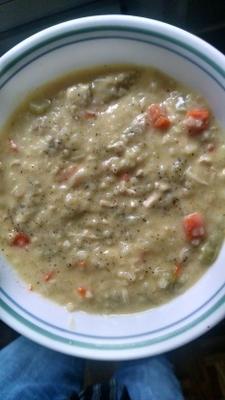 soupe de riz au poulet citron
