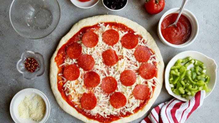 mince croûte de pizza