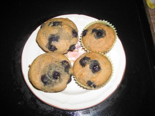 Muffins aux bleuets 100% blé entier