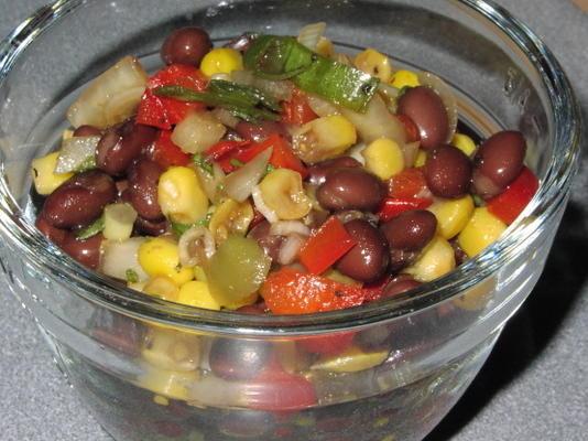 salade facile de haricots noirs et de maïs
