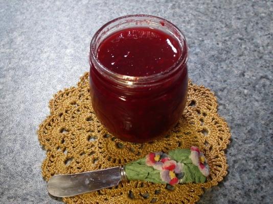 confiture de framboise à la rhubarbe