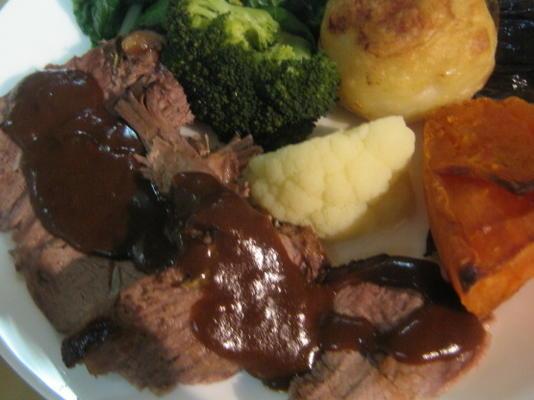 sauce traditionnelle pour rôti de boeuf, agneau, porc ou canard