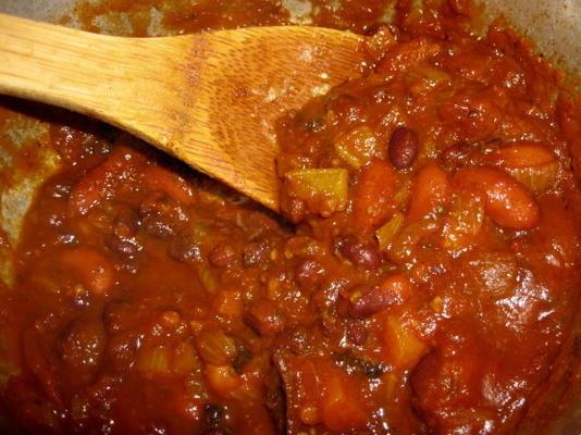 chili de nif à prendre le froid (végétarien ou végétalien)