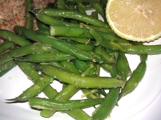haricots verts au citron