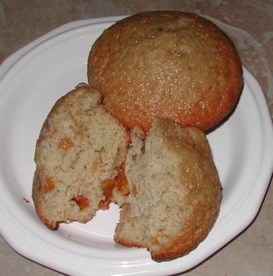 muffins aux pêches épicés