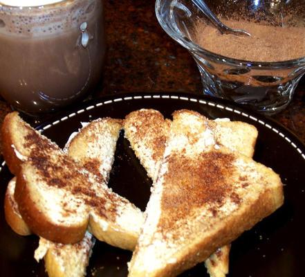 toast au chocolat à la cannelle