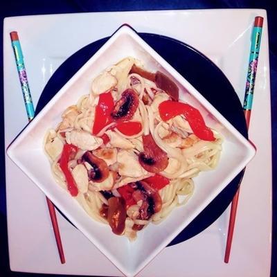 repas dans un bol - soupe aux nouilles - pour 1 lit double pour 2 (végétarien)