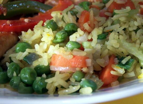 riz frit aux légumes au safran de denise