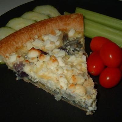 tarte aux oignons rouges et au fromage de chèvre