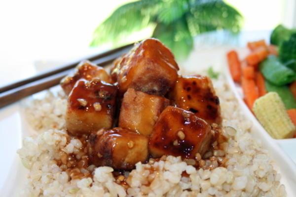 tofu chinois au bourbon