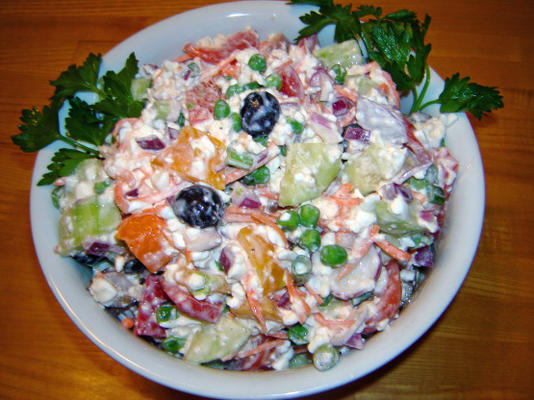 salade de légumes d'été de papa