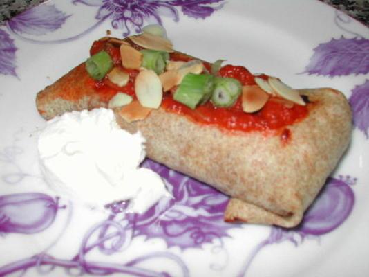 chimichangas cuit au four végétarien