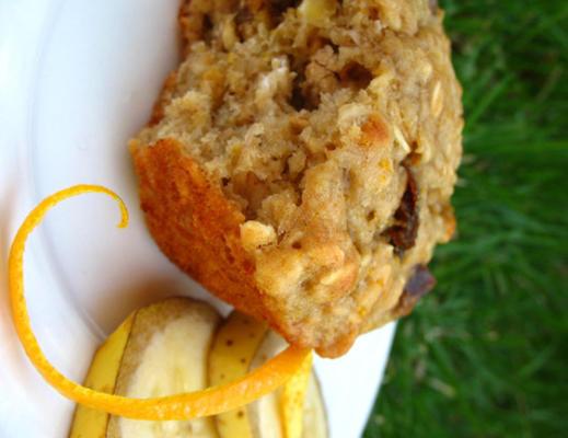 muffins à la banane et à l'orange