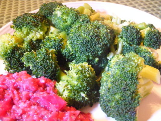 brocoli à l'ail et à la sauce soja