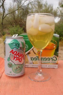 cocktail de thé vert (sans alcool)