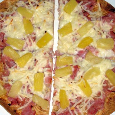 pizza tortilla teriyaki pour un
