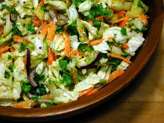 salade de chou chinois et persil de carla