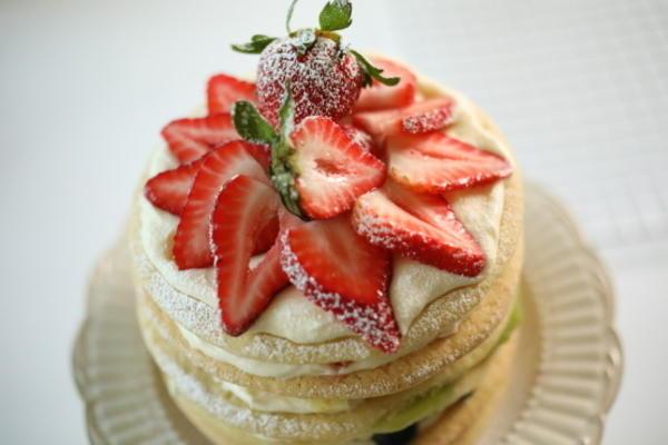 gâteau biscuit arc-en-ciel
