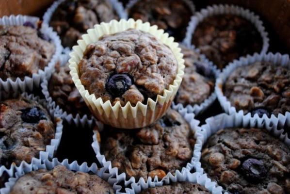 muffins aux fruits sans noix et sans farine d'avoine et de noix