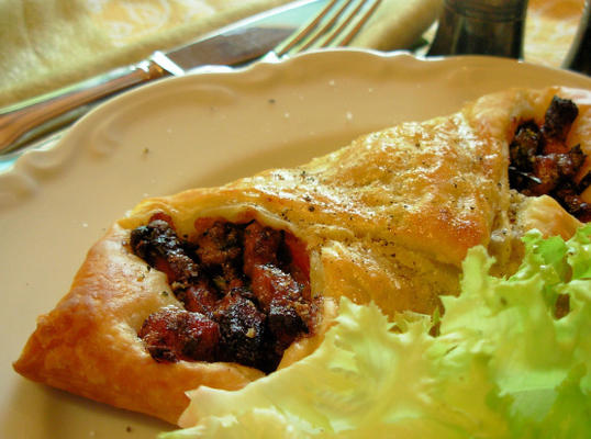 pâtisseries danoises au bacon et au fromage bleu