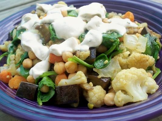 salade tiède à la marocaine