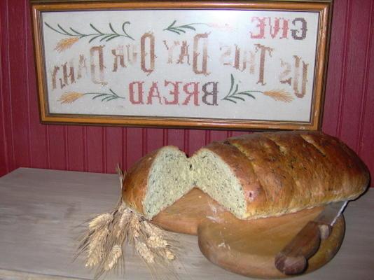 pain rustique aux épinards et au parmesan (machine à pain)