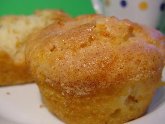 Muffins de rêve aux pêches et à la crème
