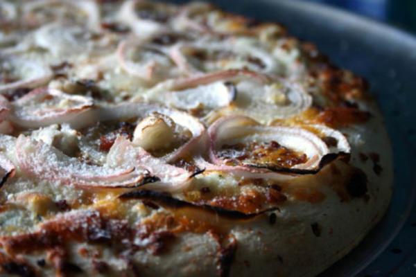 pizza ranch de poulet à l'ail