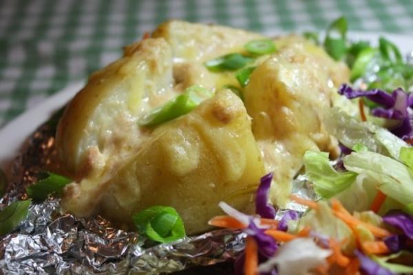 crèmes fourrées au thon (pommes de terre)
