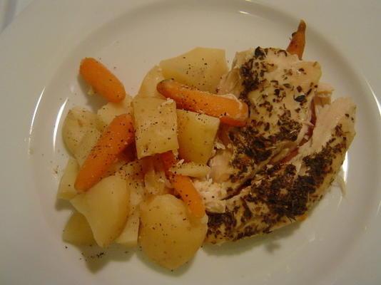 mijoteuse poulet grec et pommes de terre
