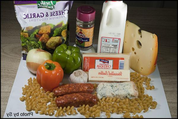 saucisse et poivre mac n 'cheese