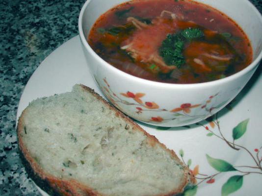 soupe tomate aux fines herbes (soupe à la tomate aux fines herbes