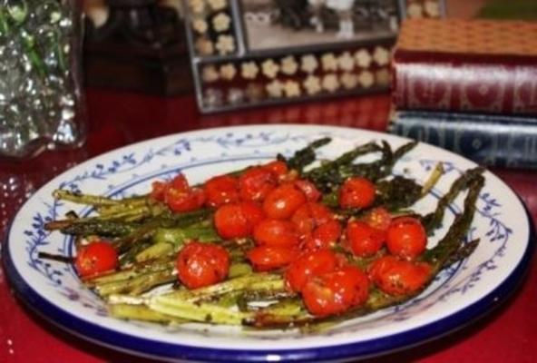 asperges pesto-glacées à la tomate cerise