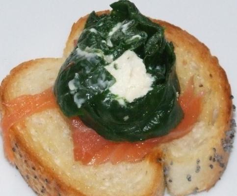 roulade au fromage et aux épinards