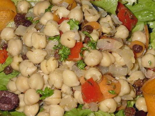 salade garbanzo marinée