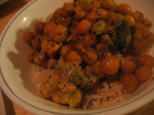 pois chiches au curry et légumes