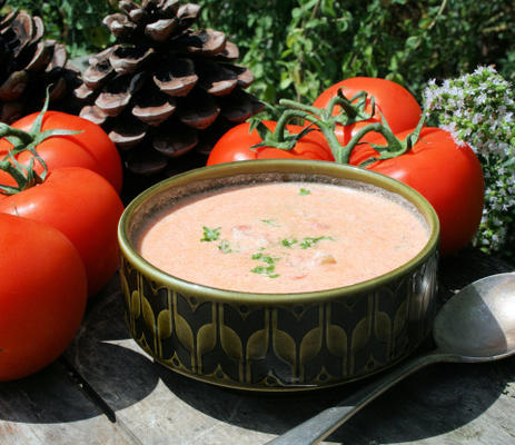 soupe au fromage à la crème tomate / aneth
