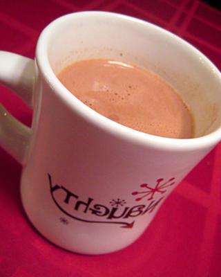 chocolat chaud péché riche et délicieux