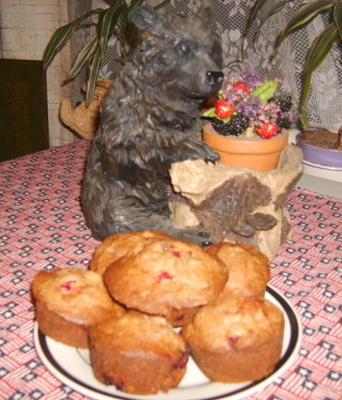 pain ou muffins aux canneberges