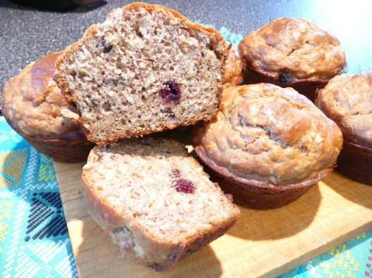 muffins à l'avoine au babeurre et au canneberge de randy
