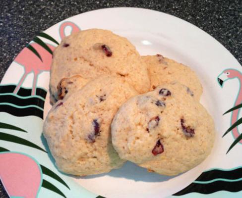 biscuits croquants au citron, au gingembre et aux canneberges
