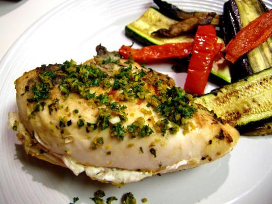 poulet grillé avec gremolata à l'orange