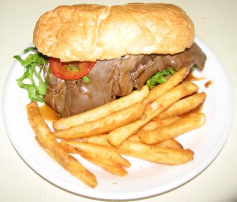 Poboy au rôti de bœuf grillé à la Nouvelle-Orléans (facile !!)