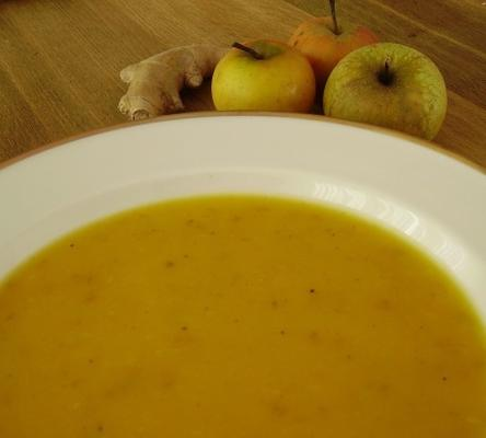 soupe de courge pomme au gingembre