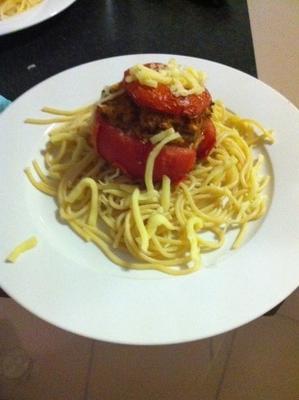 tomates farcies à la saucisse