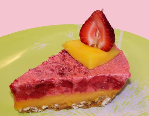 dessert à la fraise et à la mangue (vierge)