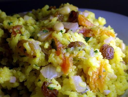 salade de riz aux fruits et noix