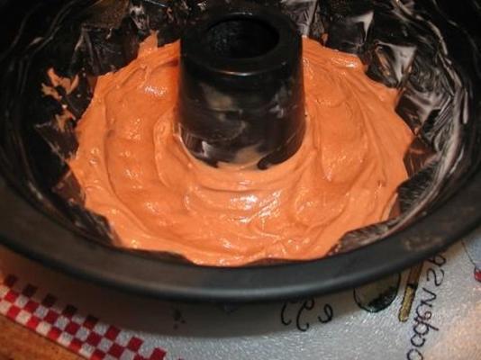un gâteau au sirop de chocolat