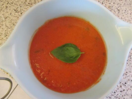 soupe facile tomate-basilic